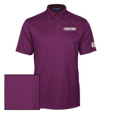 Purple Performance Fine Jacquard Polo-2017 G-MAC Champions Softball