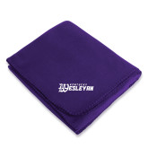 Purple Arctic Fleece Blanket-Kentucky Wesleyan