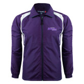 Colorblock Purple/White Wind Jacket-Primary Logo