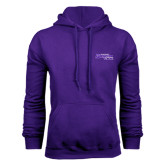 Purple Fleece Hoodie-Primary Logo