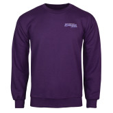 Purple Fleece Crew-Primary Logo