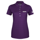 Ladies Callaway Opti Vent Purple Polo-2017 GMAC Champions Baseball Wordmark