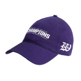 Purple Twill Unstructured Low Profile Hat-2017 G-MAC Champions Mens Basketball