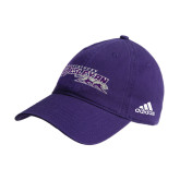 Adidas Purple Slouch Unstructured Low Profile Hat-Primary Logo