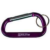 Purple Carabiner with Split Ring-Kentucky Wesleyan Engraved