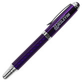 Carbon Fiber Purple Rollerball Pen-Kentucky Wesleyan Engraved