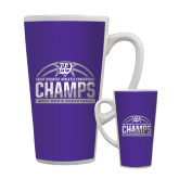 Full Color Latte Mug 17oz-Great Midwest Athletic Conference Champs - 2017 Mens Basketball Half Ball