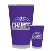 Full Color Glass 17oz-Great Midwest Athletic Conference Champs - 2017 Mens Basketball Half Ball