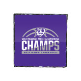 Photo Slate-Great Midwest Athletic Conference Champs - 2017 Mens Basketball Half Ball