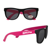 Black/Hot Pink Sunglasses-Kentucky Wesleyan