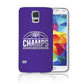 Galaxy S5 Phone Case-Great Midwest Athletic Conference Champs - 2017 Mens Basketball Half Ball