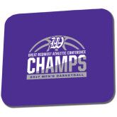 Full Color Mousepad-Great Midwest Athletic Conference Champs - 2017 Mens Basketball Half Ball