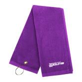 Purple Golf Towel-Kentucky Wesleyan