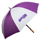 64 Inch Purple/White Umbrella-Primary Logo