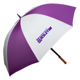 64 Inch Purple/White Umbrella-Kentucky Wesleyan