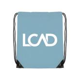 Light Blue Drawstring Backpack-Primary Mark