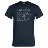 Navy T Shirt-Wordmark Stacked
