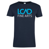 Ladies Navy T Shirt-Fine Arts