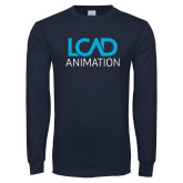 Navy Long Sleeve T Shirt-Animation