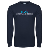 Navy Long Sleeve T Shirt-Entertainment Design