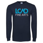 Navy Long Sleeve T Shirt-Fine Arts
