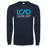 Navy Long Sleeve T Shirt-Game Art