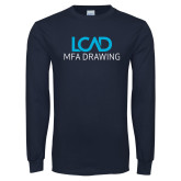 Navy Long Sleeve T Shirt-MFA Drawing