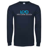 Navy Long Sleeve T Shirt-MFA Game Design