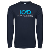 Navy Long Sleeve T Shirt-MFA Painting