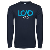 Navy Long Sleeve T Shirt-XRD
