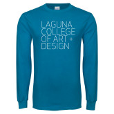 Sapphire Long Sleeve T Shirt-Wordmark Stacked