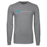 Grey Long Sleeve T Shirt-Centered Lock Up