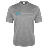Performance Grey Heather Contender Tee-Centered Lock Up