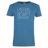 Ladies Sapphire T Shirt-Wordmark Stacked