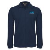 Fleece Full Zip Navy Jacket-Full Mark