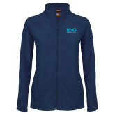 Ladies Fleece Full Zip Navy Jacket-Full Mark