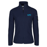 Columbia Ladies Full Zip Navy Fleece Jacket-Full Mark