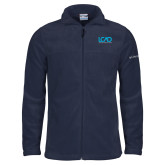 Columbia Full Zip Navy Fleece Jacket-Full Mark