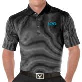 Callaway Core Stripe Black/White Polo-Primary Mark