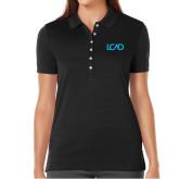 Ladies Callaway Opti Vent Black Polo-Primary Mark