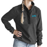 Ladies DRI DUCK Aspen Charcoal Fleece Pullover-Primary Mark