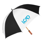 62 Inch Black/White Vented Umbrella-Full Mark