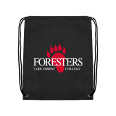 Black Drawstring Backpack-Foresters