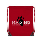 Red Drawstring Backpack-Foresters