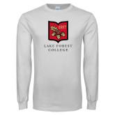 White Long Sleeve T Shirt-Primary Mark