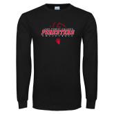 Black Long Sleeve T Shirt-Swimming and Diving Circle