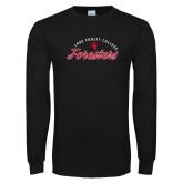 Black Long Sleeve T Shirt-Script