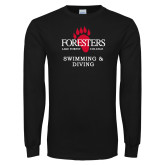 Black Long Sleeve T Shirt-Swimming and Diving