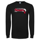 Black Long Sleeve T Shirt-Hockey Puck