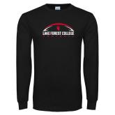 Black Long Sleeve T Shirt-Football Arch